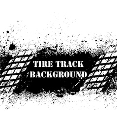 Tire track background on ink blots vector image