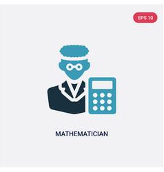 Two color mathematician icon from professions vector