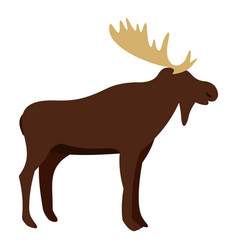 Wild elk icon isolated vector