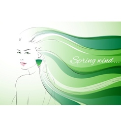Wind of spring background vector image