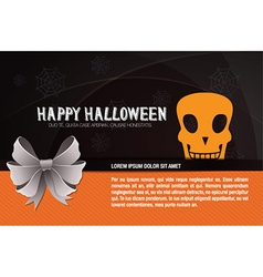 With halloween and halloween decoration vector