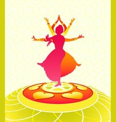dancing onam holiday vector image