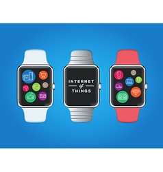 IOT Internet of Things on Smart Watch Quality vector image vector image