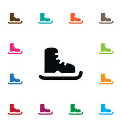 Isolated ice boot icon skating element can vector