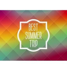 Summer frame card background vector image vector image