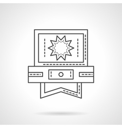 Video processing application flat line icon vector image