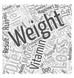 Weight Loss Tips Guaranteed To Help You Lose vector image