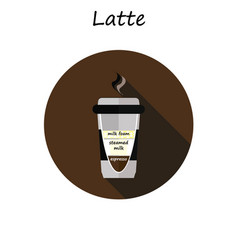 coffee cup coffee latte vector image vector image