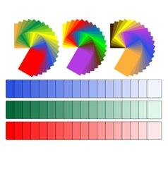 color palettes vector image
