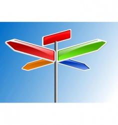 direction arrows vector image vector image