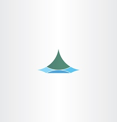 iceland logo sign mountain vector image