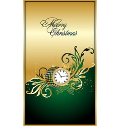 merry christmas green elegant background vector image vector image