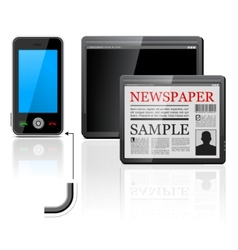 mobile phone and tablet computer icons vector image vector image