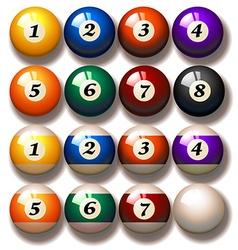 Pool balls vector image vector image