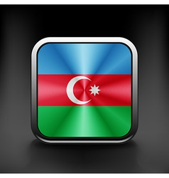 Square icon with flag of azerbaijan with vector image vector image