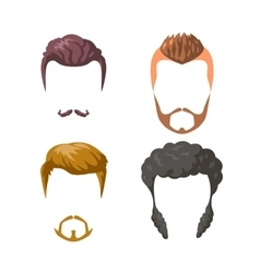Beards mustaches and hairstyles set vector image vector image
