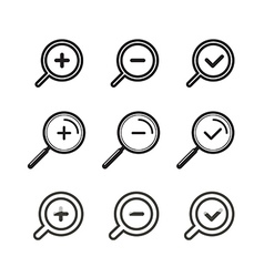 Different zoom icons set vector