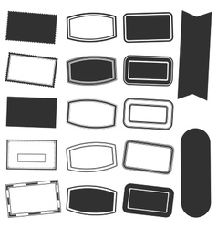 Rectangle Stamp Set vector image vector image