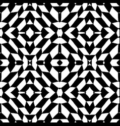 seamless pattern geometric black and white tiles vector image