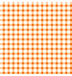 Seamless retro white-orange square tablecloth vector image vector image