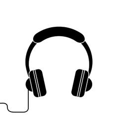silhouette headphones music listen mobile vector image