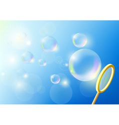 Bubbles against the blue sky vector