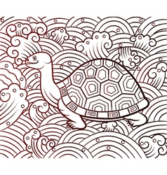 Chinese turtle vector