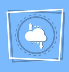 cloud with arrow icon digital data backup storage vector image