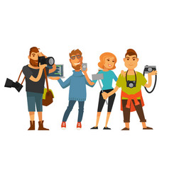 people professions photographer cameraman or vector image vector image
