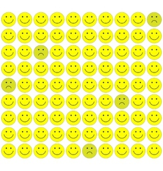 Seamless pattern with smileys background vector image