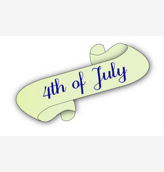 4th of july scroll vector