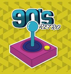 90s retro card design vector