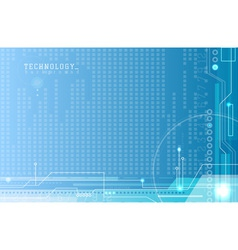 Abstract electronics blue background vector