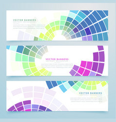 Abstract mosaic colorful headers and banners vector
