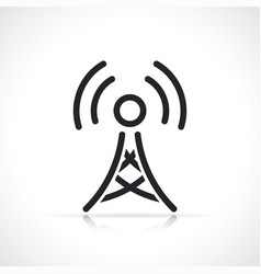 Antenna tower thin line icon vector