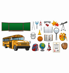 back to school and college education stationery vector image