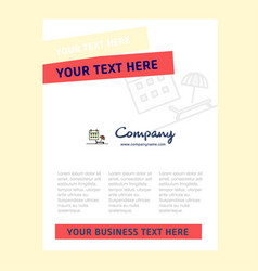beach title page design for company profile vector image