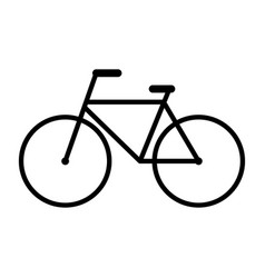 bicycle icon pictograph outline expanded black vector image
