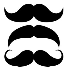 black retro mustaches vector image
