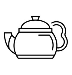 black teapot icon outline style vector image