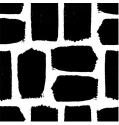 black texture paint stain seamless pattern hand vector image