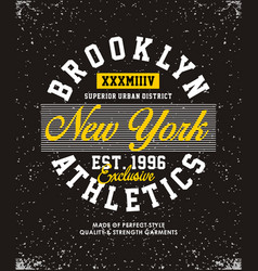 brooklyn athletics t-shirt graphic vector image