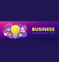 business trend analysis concept banner header vector image