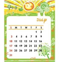 Calendar july vector