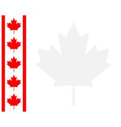 Canadian flag ribbon maple leaf frame background vector