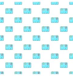 Car battery pattern cartoon style vector