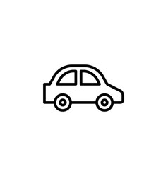 car icon stock of transportation vehicles isolated vector image