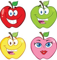 Cartoon apples vector image