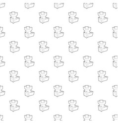 castle tower pattern seamless vector image