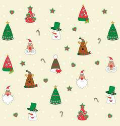 christmas background seamless tiling great choic vector image